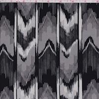 ITY Grey/Black/White Ikat Stripe Jersey Knit