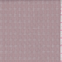 Dusty Mauve Embroidered Check Gauze