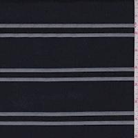 Heather Navy/Pearl/Black Stripe Suiting