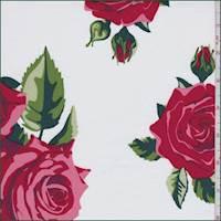 *5 YD PC--Chalk/Dusty Pink Rose Poplin