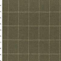 *2 YD PC--Antique Brown/Beige/Multi Wool Blend Grid Jacketing