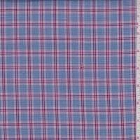 *3 5/8 YD PC--Navy/Mulberry Glenplaid Shirting