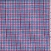*2 5/8 YD PC--Navy/Mulberry Glenplaid Shirting