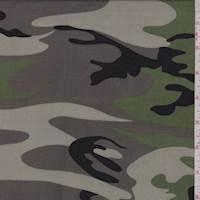 *1 3/4 YD PC--Moss/Taupe Camo Rayon Challis