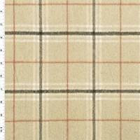 *3 5/8 YD PC--Beige/Multi Brushed Plaid Flannel Jacketing