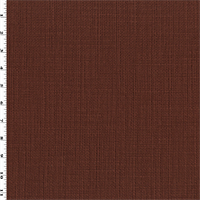*1/2 YD PC--Amber Brown Cotton Texture Woven Home Decorating Fabric