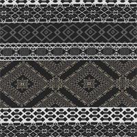 *1 1/2 YD PC--Black Peached Tile Print Knit