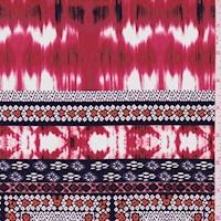 *3 YD PC--ITY Crimson/Black Seismic Tile Jersey Knit