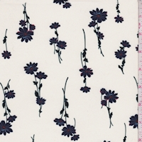 Cream/Dark Ink Floral Crepe