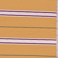 Gold Stripe Fine Line Twill Shirting