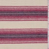 Buff/Berry Stripe Brushed Jacketing