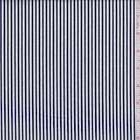 White/Dark Navy Stripe Flannel