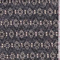 Dark Grey/Beige/Black Medallion Jersey Knit