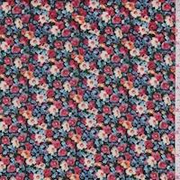 Green/Blue/Pink Mini Floral Cotton Lawn