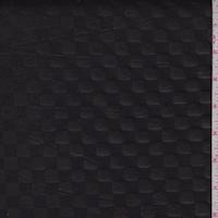Black Pleather Check Scuba Knit
