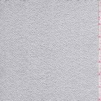 Metallic Silver Crepe Faux Leather