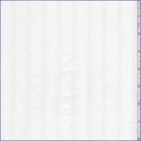 White Satin Stripe Organza