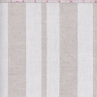 Natural/Oatmeal Stripe Twill Woven Decorating Fabric