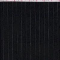 Black Embroidered Pinstripe Poplin Shirting