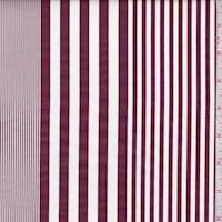 Mulberry/White Stripe Fine Line twill