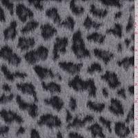 Smoke Grey Cheetah Faux Fur Jacketing