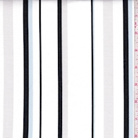 White/Black/Blue Leno Stripe Shirting