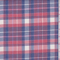 Pale Red/Ink/Stone Plaid Flannel