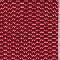 *2 7/8 YD PC--Hollyberry Red Zig Zag Baby Wale Corduroy