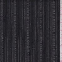 *2 YD PC--Black/Stone Stripe Stretch Flannel