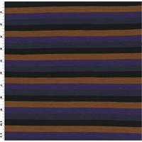 *3 1/4 YD PC--Multi Rayon/Wool Striped Jersey Knit