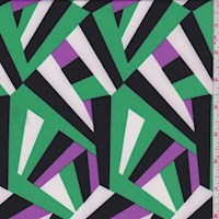 *4 YD PC--Kelly/Purple/White Abstract Prism ITY Knit