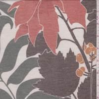 *2 YD PC--Beige/Brown/Sage Floral Print Sweater Jersey Knit