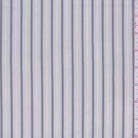*2 1/8 YD PC--Soft Grey/Pewter Stripe Shirting