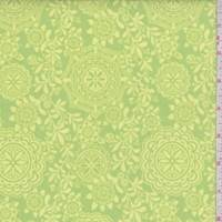 *3 1/2 YD PC--Lime/Lemon Medallion Vine Print Cotton