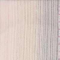 *3 3/8 YD PC--Ivory/Pink/Olive Pinstripe Silk Crepe de Chine