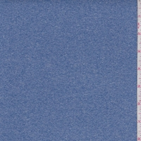 *3 1/4 YD PC--Heather Blue Double Brushed Jersey Knit