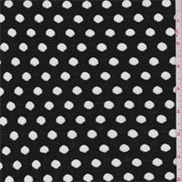 *2 YD PC--Black Laser Cut Jersey Knit
