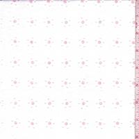 White/Pink Floral Eyelet