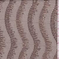 Bronze/Champagne Mini Sequin Wave Tulle