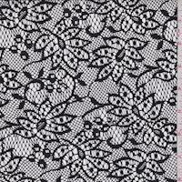 Black Stylized Floral Lace