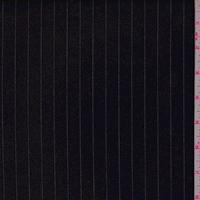Black Pinstripe Twill