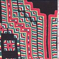 Black Multi Southwestern Silk Chiffon