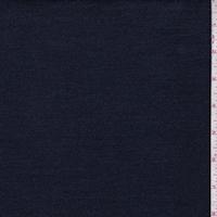 Deep Navy Herringbone Stripe Stretch Denim