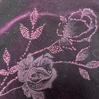 Purple Rose Stretch Velvet