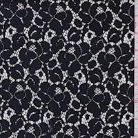 Navy/Black Floral Lace