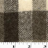 Beige/Brown Multi Wool Blend Plaid Woven Jacketing