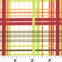 White/Red/Lime Green Soft Brushed Printed Flannelette