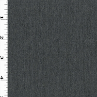 Dark Heather Gray Wool Blend Woven Suiting
