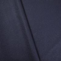 Dark Indigo Blue Wool Blend Woven Twill Suiting