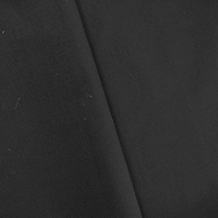 Solid Black Wool Blend Woven Lining